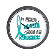 I Wear Teal For My Daughter 37 Wall Clock