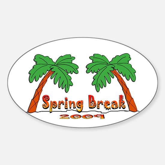 Spring Break 2009 Oval Decal