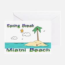 Spring Break Miami Beach Greeting Card
