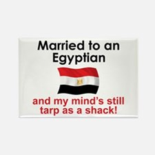 Married to an Egyptian Rectangle Magnet