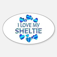 Sheltie Oval Decal