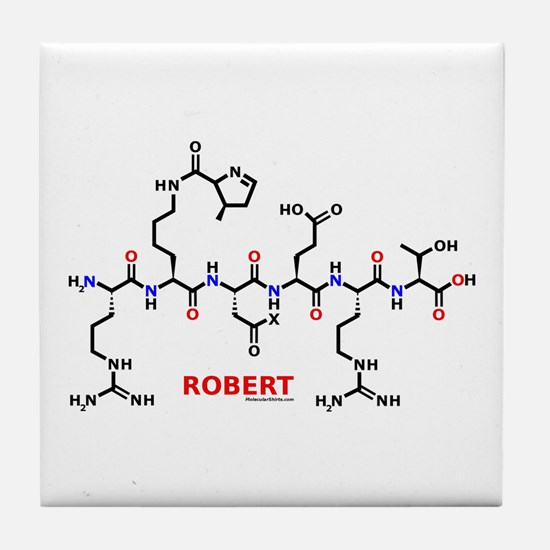 Robert name molecule Tile Coaster
