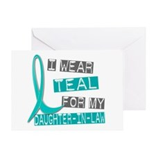 I Wear Teal For My Daughter-In-Law 37 Greeting Car