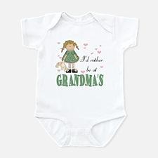 I'd rather be at Grandma's Baby Infant Bodysuit