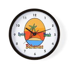 Spring Break Bahamas Wall Clock