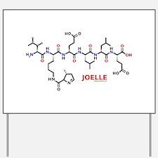 Joelle name molecule Yard Sign