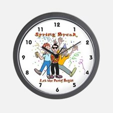 Spring Break Party Wall Clock