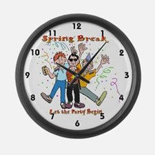 Spring Break Party Large Wall Clock