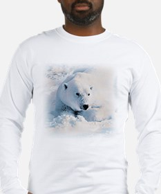 Polar Bear & Snow Long Sleeve T-Shirt