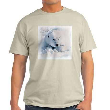 Polar Bear & Snow Ash Grey T-Shirt