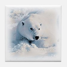 Polar Bear & Snow Tile Coaster
