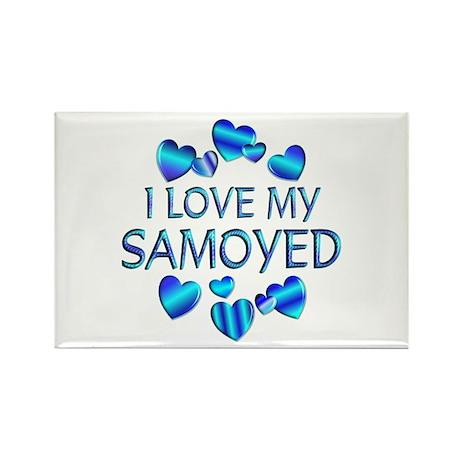 Samoyed Rectangle Magnet (10 pack)