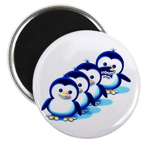 """Flock of Penguins 2 2.25"""" Magnet (100 pack)"""