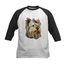 Yorkie Red Bow Tee