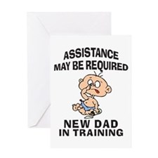 New Dad In Training Greeting Card