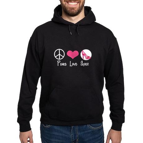 Peace Love Shoes Hoodie (dark)