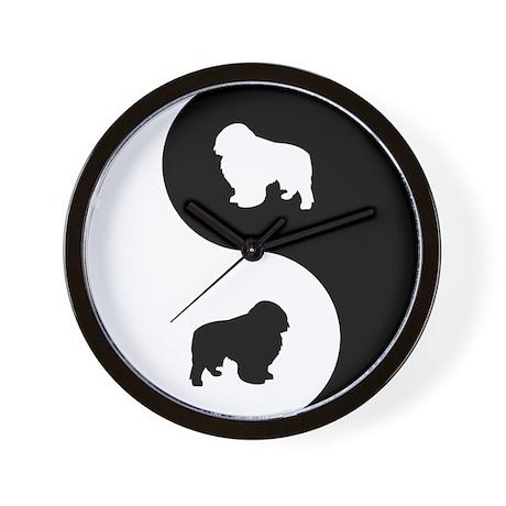 Yin Yang Toy Spaniel Wall Clock