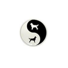 Yin Yang Flatcoat Mini Button (10 pack)