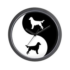 Yin Yang Flatcoat Wall Clock