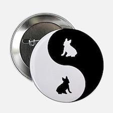 """Yin Yang French Bulldog 2.25"""" Button"""