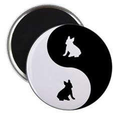Yin Yang French Bulldog Magnet