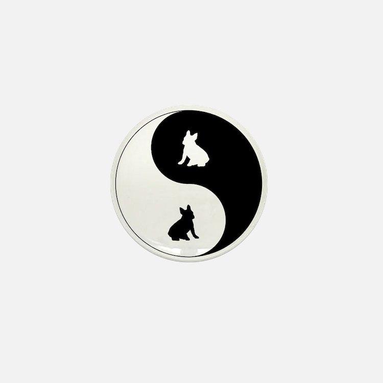Yin Yang French Bulldog Mini Button
