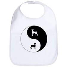 Yin Yang German Pinscher Bib