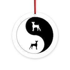 Yin Yang German Pinscher Ornament (Round)