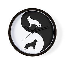 Yin Yang German Shepherd Wall Clock
