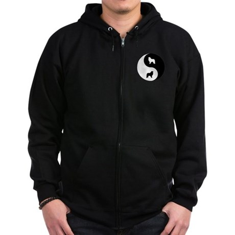 Yin Yang Pyrenees Zip Hoodie (dark)