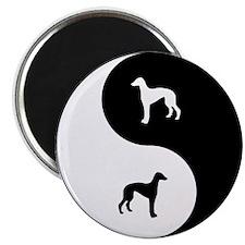 Yin Yang Greyhound Magnet