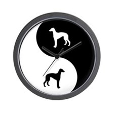 Yin Yang Greyhound Wall Clock