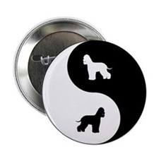 "Yin Yang Water Spaniel 2.25"" Button"