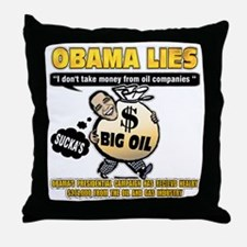 Obama lies Throw Pillow