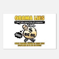 Obama lies Postcards (Package of 8)