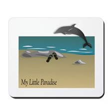My Little Paradise with Dolphin Mousepad
