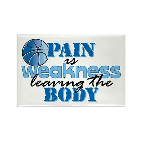 Pain is weakness bball Rectangle Magnet (10 pack)