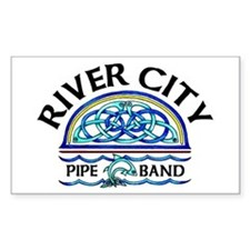 River City Pipe Band Logo Rectangle Decal