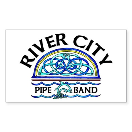 River City Pipe Band Logo Rectangle Sticker