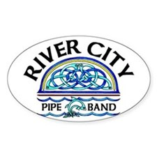 River City Pipe Band Logo Oval Decal