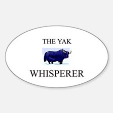 The Yak Whisperer Oval Decal