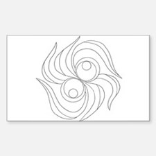 B/W Release and Let Go Rectangle Decal