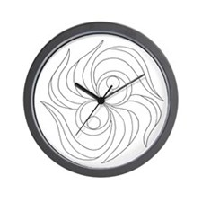 B/W Release and Let Go Wall Clock