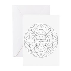 B/W Prosperity Greeting Cards (Pk of 10)