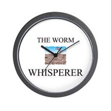 The Worm Whisperer Wall Clock