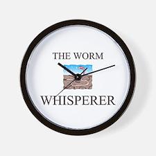 The Worm Whisperer Wall Clock