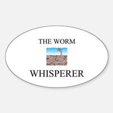 The Worm Whisperer Oval Decal
