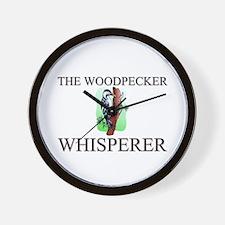 The Woodpecker Whisperer Wall Clock