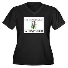 The Woodpecker Whisperer Women's Plus Size V-Neck