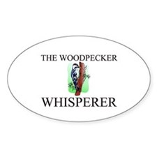 The Woodpecker Whisperer Oval Decal